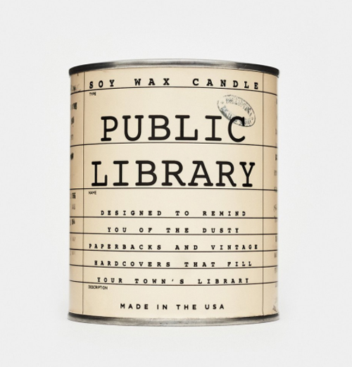 Public Library Card Candle